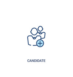 Candidate concept 2 colored icon simple line vector