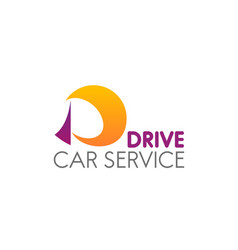 car service badge vector image
