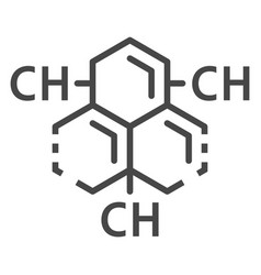 carbon hydrogen substance icon outline style vector image