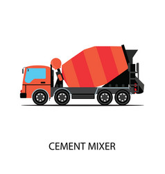 Cement mixer truck isolated on white background vector