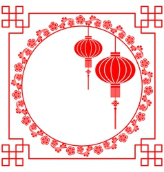 Chinese Paper Cutting Motif Chinese Lantern vector image