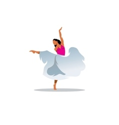 choreography sign young beautiful dancer girl vector image