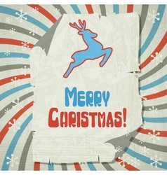 Christmas background with jumping stylized deer vector image