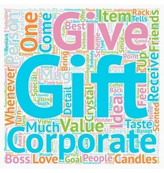 Corporate Gift Ideas text background wordcloud vector