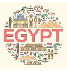 Country Egypt travel vacation guide of goods vector