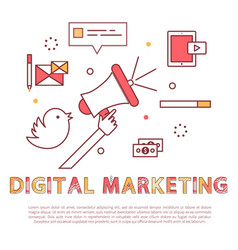 digital marketing poster text vector image