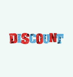 discount concept stamped word art vector image