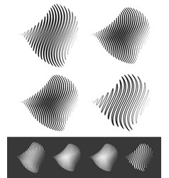 Distorted abstract wavy lines vector