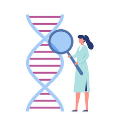 dna genetic engineering laboratory research vector image