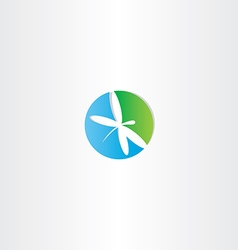 dragonfly circle logo icon vector image
