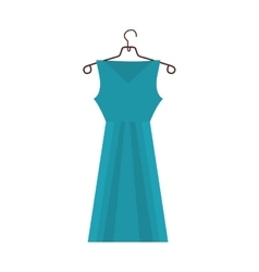 dress and hanger icon image vector image