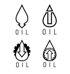Fall and rise of oil prices logo set vector