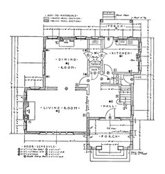 First floor residence plan of a typical residence vector
