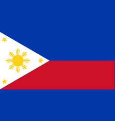 Flag of republic of philippines in peacetime vector