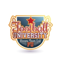 Football Badge Isolated vector