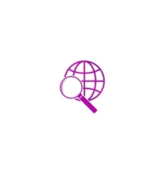 Global search icon World globe symbol vector image