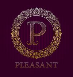 Golden logo template for pleasant boutique vector