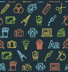 graphic design signs seamless pattern background vector image