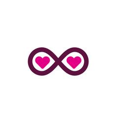 infinity love logo icon design vector image