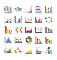 Infographic flat icons vector