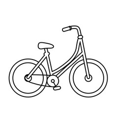isolated vintage bike design isolated hands vector image
