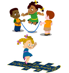 Kids play 1 vector
