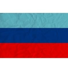 Lugansk Peoples Republic paper flag vector image