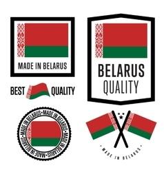 Made in Belarus label set vector image