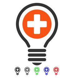 Medical bulb flat icon vector
