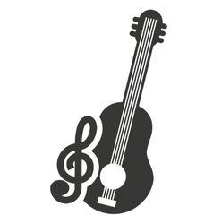 musical instrument silhouette isolated vector image