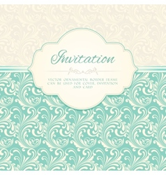 Ornamental pattern invitation card vector
