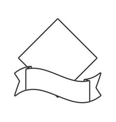 Outlined label sticker emblem vector