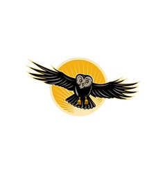 Owl swooping front vector