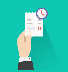 Pay bill waiting recurring payment concept vector