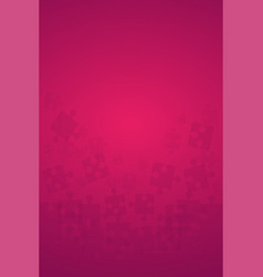 Pink puzzles pieces - jigsaw vector