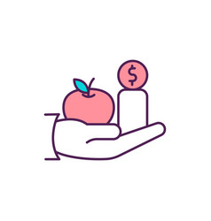 Pro-poor growth approach rgb color icon vector