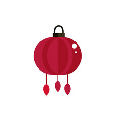 red lantern decoration culture traditional japan vector image