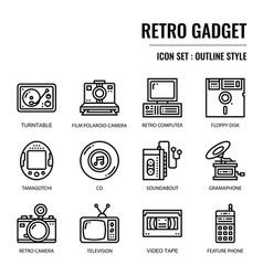 retro gadget vector image