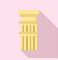 Roman column icon flat style vector