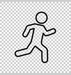 running people sign icon in transparent style run vector image