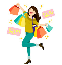sales shopping vector image