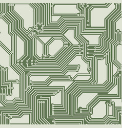 Seamless background of electrical circuit board vector