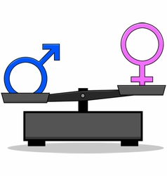 Sex inequality vector image