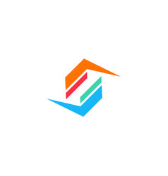 shape letter s color logo vector image