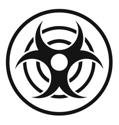 Sign biological threat icon simple style vector