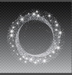 Silver glitter circle abstract background vector