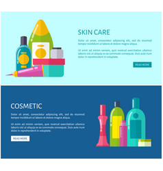 Skincare cosmetics of high quality online promo vector
