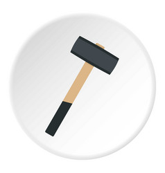 Sledgehammer icon circle vector