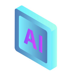 Smart ai sign icon isometric style vector
