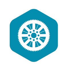 sprocket from bike icon simple style vector image